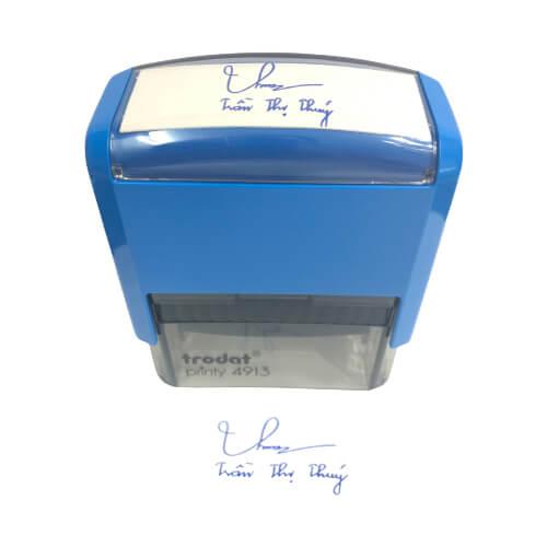 Dịch vụ khắc dấu chữ ký kèm tên lấy liền giá rẻ số 1 Hồ Chí Minh, Hà Nội và trên toàn quốc.