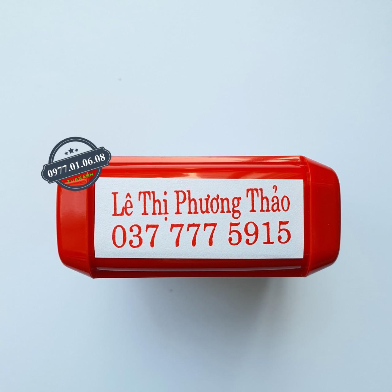 Khắc dấu số điện thoại kèm tên giá rẻ số 1 năm 2021 tại Hồ Chí Minh, Hà Nội và trên toàn quốc
